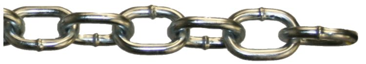 Passing Link Chain Electro Galvanized Chain