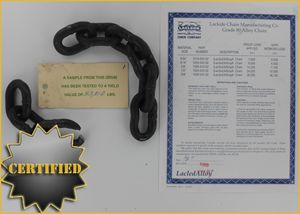 Certified Grade 80 alloy chain