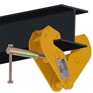OZ lifting products chain hoist with overload protection, beam clamp