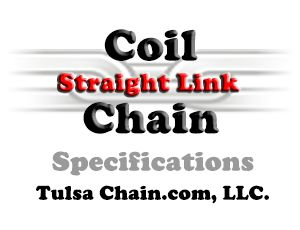 Machine Chain Straight Link from Tulsa Chain